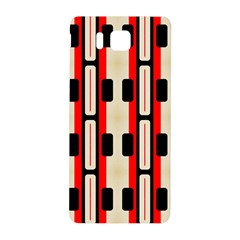 Rectangles And Stripes Pattern 			samsung Galaxy Alpha Hardshell Back Case
