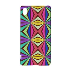 Connected shapes in retro colors  Sony Xperia Z3+ Hardshell Case