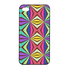 Connected Shapes In Retro Colors  			apple Iphone 4/4s Seamless Case (black)