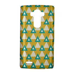 White blue triangles pattern 			LG G4 Hardshell Case