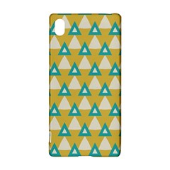 White blue triangles pattern 			Sony Xperia Z3+ Hardshell Case