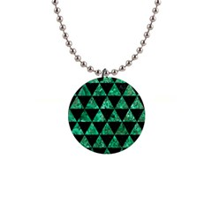 Triangle3 Black Marble & Green Marble 1  Button Necklace