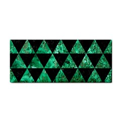 Triangle3 Black Marble & Green Marble Hand Towel