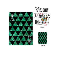 Triangle3 Black Marble & Green Marble Playing Cards 54 (mini)