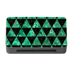 Triangle3 Black Marble & Green Marble Memory Card Reader With Cf