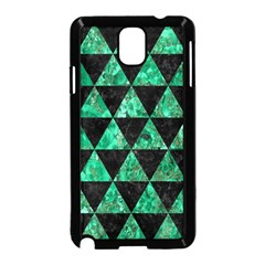 Triangle3 Black Marble & Green Marble Samsung Galaxy Note 3 Neo Hardshell Case (black)