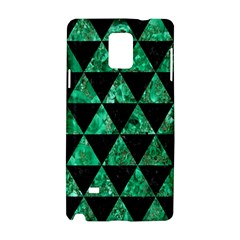 Triangle3 Black Marble & Green Marble Samsung Galaxy Note 4 Hardshell Case