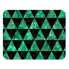 Triangle3 Black Marble & Green Marble Double Sided Flano Blanket (large)