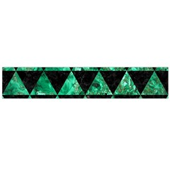Triangle3 Black Marble & Green Marble Flano Scarf (large)