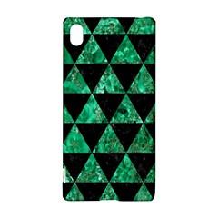 Triangle3 Black Marble & Green Marble Sony Xperia Z3+ Hardshell Case