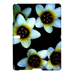 Light Blue Flowers On A Black Background Samsung Galaxy Tab S (10 5 ) Hardshell Case