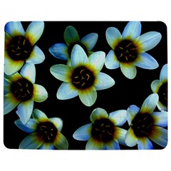 Light Blue Flowers On A Black Background Jigsaw Puzzle Photo Stand (Rectangular)