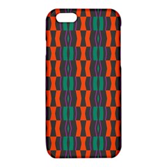 Green orange shapes pattern 			iPhone 6/6S TPU Case