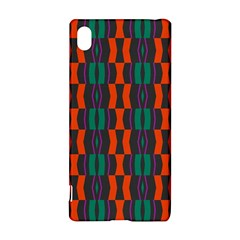 Green orange shapes pattern 			Sony Xperia Z3+ Hardshell Case