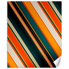 Diagonal Stripes In Retro Colors 			canvas 16  X 20