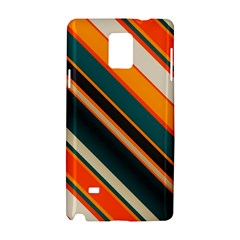 Diagonal Stripes In Retro Colors samsung Galaxy Note 4 Hardshell Case