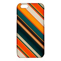 Diagonal stripes in retro colors iPhone 6/6S TPU Case