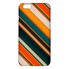Diagonal stripes in retro colors 			iPhone 6 Plus/6S Plus TPU Case
