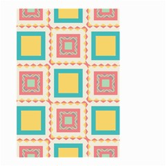 Pastel Squares Pattern Small Garden Flag
