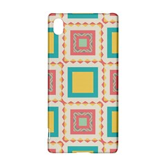 Pastel squares pattern 			Sony Xperia Z3+ Hardshell Case
