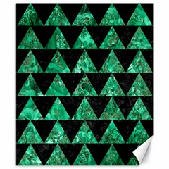 Triangle2 Black Marble & Green Marble Canvas 8  X 10