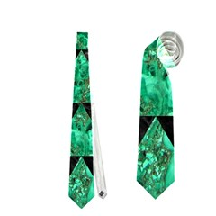 Triangle2 Black Marble & Green Marble Necktie (one Side)