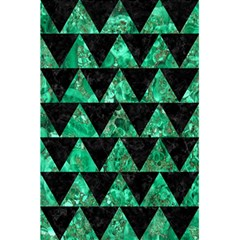 Triangle2 Black Marble & Green Marble 5 5  X 8 5  Notebook
