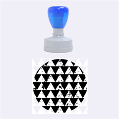 Triangle2 Black Marble & Green Marble Rubber Stamp Round (medium)