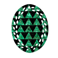 Triangle2 Black Marble & Green Marble Ornament (oval Filigree)