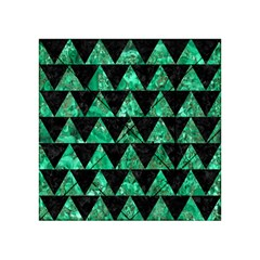 Triangle2 Black Marble & Green Marble Acrylic Tangram Puzzle (4  X 4 )