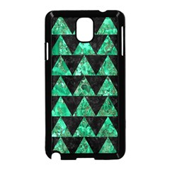 Triangle2 Black Marble & Green Marble Samsung Galaxy Note 3 Neo Hardshell Case (black)