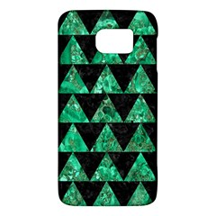 Triangle2 Black Marble & Green Marble Samsung Galaxy S6 Hardshell Case