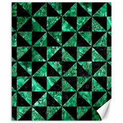 Triangle1 Black Marble & Green Marble Canvas 8  X 10