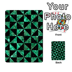 Triangle1 Black Marble & Green Marble Multi Purpose Cards (rectangle)