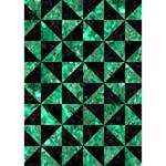 TRIANGLE1 BLACK MARBLE & GREEN MARBLE Get Well 3D Greeting Card (7x5) Inside