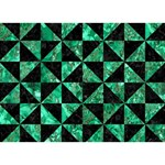 TRIANGLE1 BLACK MARBLE & GREEN MARBLE Get Well 3D Greeting Card (7x5) Back