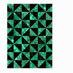 Triangle1 Black Marble & Green Marble Large Garden Flag (two Sides)