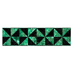 Triangle1 Black Marble & Green Marble Satin Scarf (oblong)