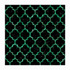 Tile1 Black Marble & Green Marble (r) Medium Glasses Cloth (2 Sides)