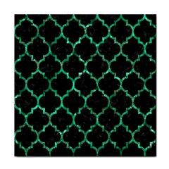 Tile1 Black Marble & Green Marble (r) Face Towel