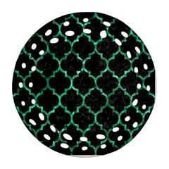 Tile1 Black Marble & Green Marble (r) Round Filigree Ornament (two Sides)