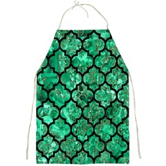 Tile1 Black Marble & Green Marble Full Print Apron