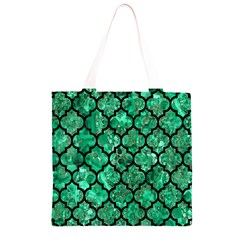 TIL1 BK-GR MARBLE Grocery Light Tote Bag