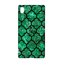 Tile1 Black Marble & Green Marble Sony Xperia Z3+ Hardshell Case