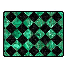 Square2 Black Marble & Green Marble Fleece Blanket (small)