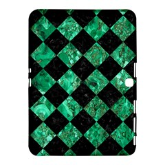Square2 Black Marble & Green Marble Samsung Galaxy Tab 4 (10 1 ) Hardshell Case