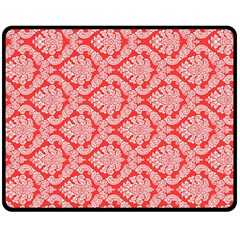 Salmon Damask Double Sided Fleece Blanket (medium)