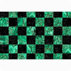 Square1 Black Marble & Green Marble Collage 12  X 18