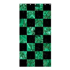 Square1 Black Marble & Green Marble Shower Curtain 36  X 72  (stall)