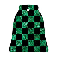 Square1 Black Marble & Green Marble Ornament (bell)